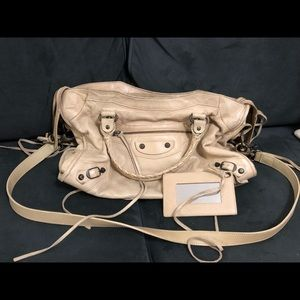 Authentic Balenciaga City Bag in Beige